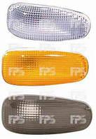 Указатель поворота на крыле Mercedes E-Class W210 95-02 левый/правый, желтый (овальный) (DEPO)