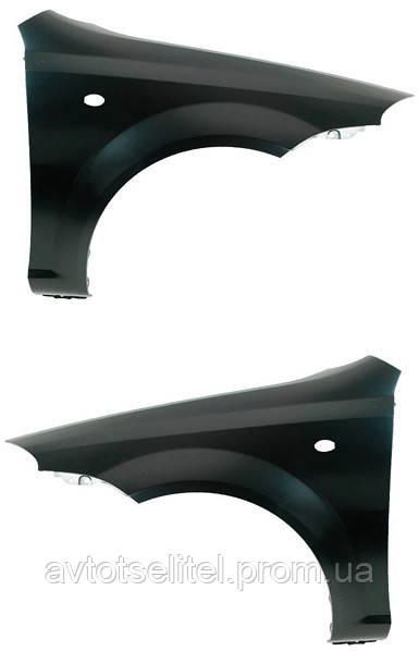 Крыло левое с отверстием под повторитель поворота для Chevrolet Lacetti 2003-13 HB