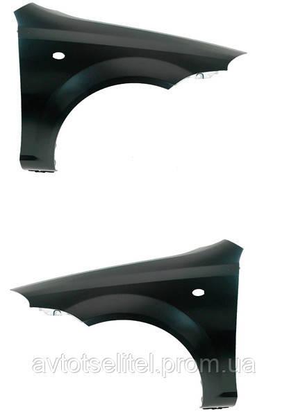 Крыло левое с отверстием под повторитель поворота для Chevrolet Nubira