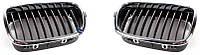 Решетка капота широкая хромированно-черная правая 00-03 для BMW 5 (E39) 1996-03