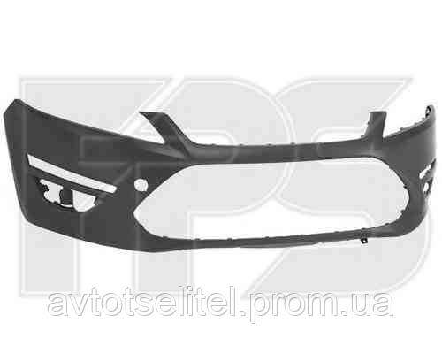 Бампер передний без отв. омывателя без отв. парктроника с отв. дневного света для Ford Mondeo 2010-14