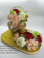 """Подарок из конфет и чая Basilur"""" Чайная сумочка"""", фото 1"""