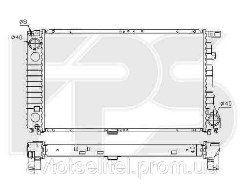 Радиатор охлаждения автомобильный основной для BMW 3 (E36) 90-99