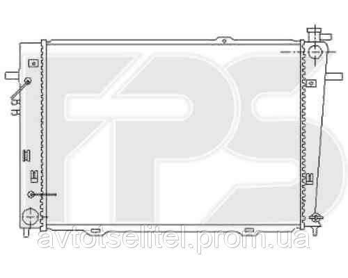 Радиатор охлаждения автомобильный основной для HYUNDAI TUCSON 04-13 (JM), KIA SPORTAGE 04-08 (JE)