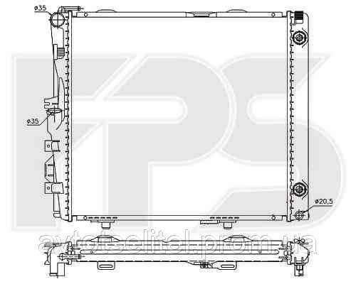 Радиатор охлаждения автомобильный основной для MERCEDES 124 84-96 (E-CLASS)