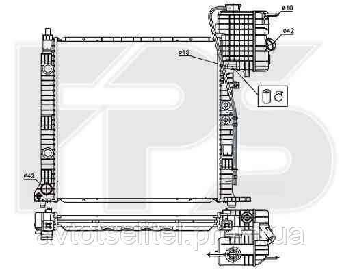 Радиатор охлаждения автомобильный основной для MERCEDES BUS VITO / V-CLASS 96-02