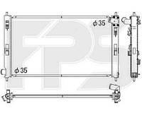 Радиатор охлаждения автомобильный основной для MITSUBISHI ASX 10-13/ASX 13-/LANCER X (CY) 07 - 12 / (CX) 08 - 10/LANCER X (CY) 12 - / (CX) RALLIART 08