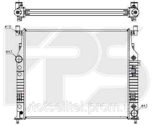 Радиатор охлаждения автомобильный основной для MERCEDES 164 05-11 (ML-CLASS) SUV