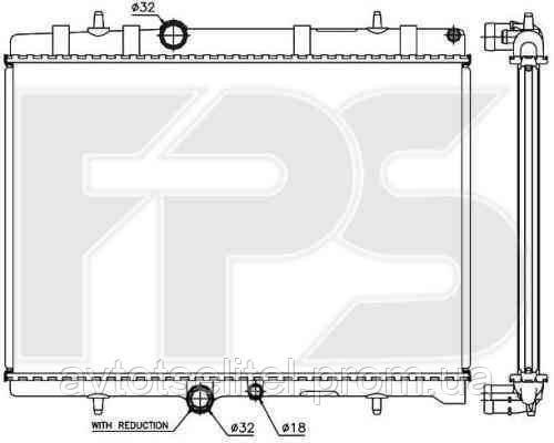 Радиатор охлаждения автомобильный основной для PEUGEOT 407 04-10