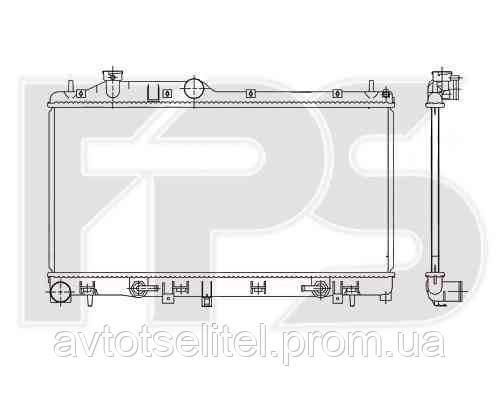 Радиатор охлаждения автомобильный основной для SUBARU FORESTER 08-12/IMPREZA 07-11