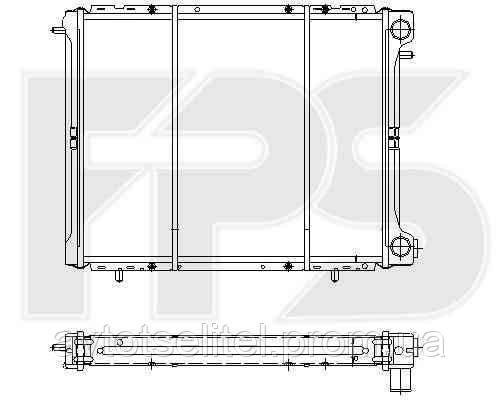 Радиатор охлаждения для RENAULT R19 92-95/TRAFIC 81-01