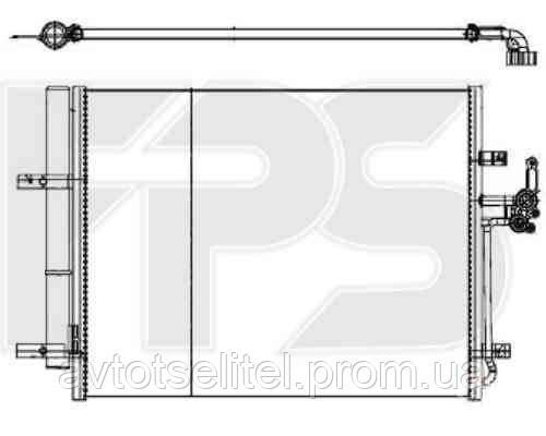 Радиатор кондиционера для FORD MONDEO 07-10/MONDEO 10-14/S-MAX 06-