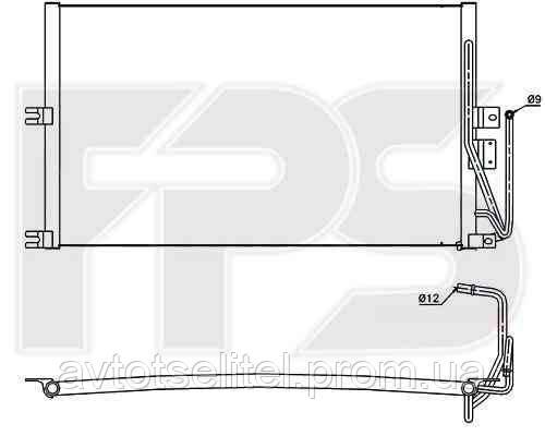 Радиатор кондиционера для OPEL VECTRA B 99-02