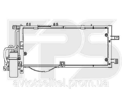 Радиатор кондиционера для OPEL COMBO 01-11/CORSA C 01-03/CORSA C 04-07