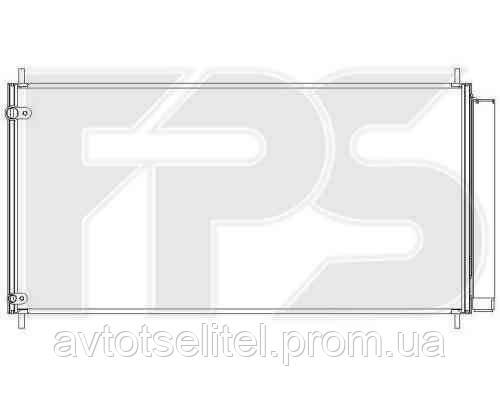 Радиатор кондиционера для TOYOTA AURIS 07-09/AURIS 10-12/COROLLA 07-09 (E14 USA E15 EUR)/COROLLA 10-13 (E14 USA E15 EUR)/COROLLA 13- (E1