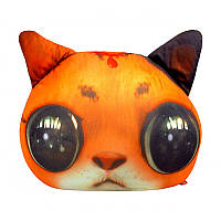 """Антистрессовая игрушка мягконабивная """"SOFT TOYS """"Кот глазастый рыжий"""""""