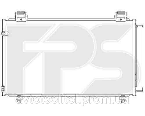 Радиатор кондиционера для TOYOTA COROLLA 05-07 (E12 EUR)