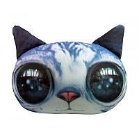 """Антистрессовая игрушка мягконабивная """"SOFT TOYS """"Кот глазастый серый"""""""