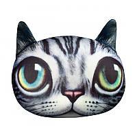 """Антистрессовая игрушка мягконабивная """"SOFT TOYS """"Кот глазастый серый полосатый"""""""