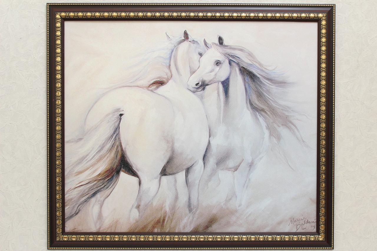 """Картина """"Белые лошади"""""""