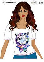 """Женская футболка c рисунком """"Неоновое мерцание"""""""