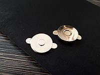 Магнитная кнопка круглая 18мм золото