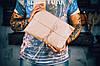 Мужская сумка через плечо на два отдела  10149  Италия  Темный кофе, фото 7