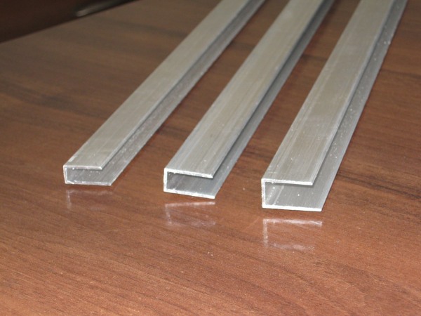 Алюминиевый швеллер 20 х 20 х 2 мм 6060 (АД31Т), фото 2