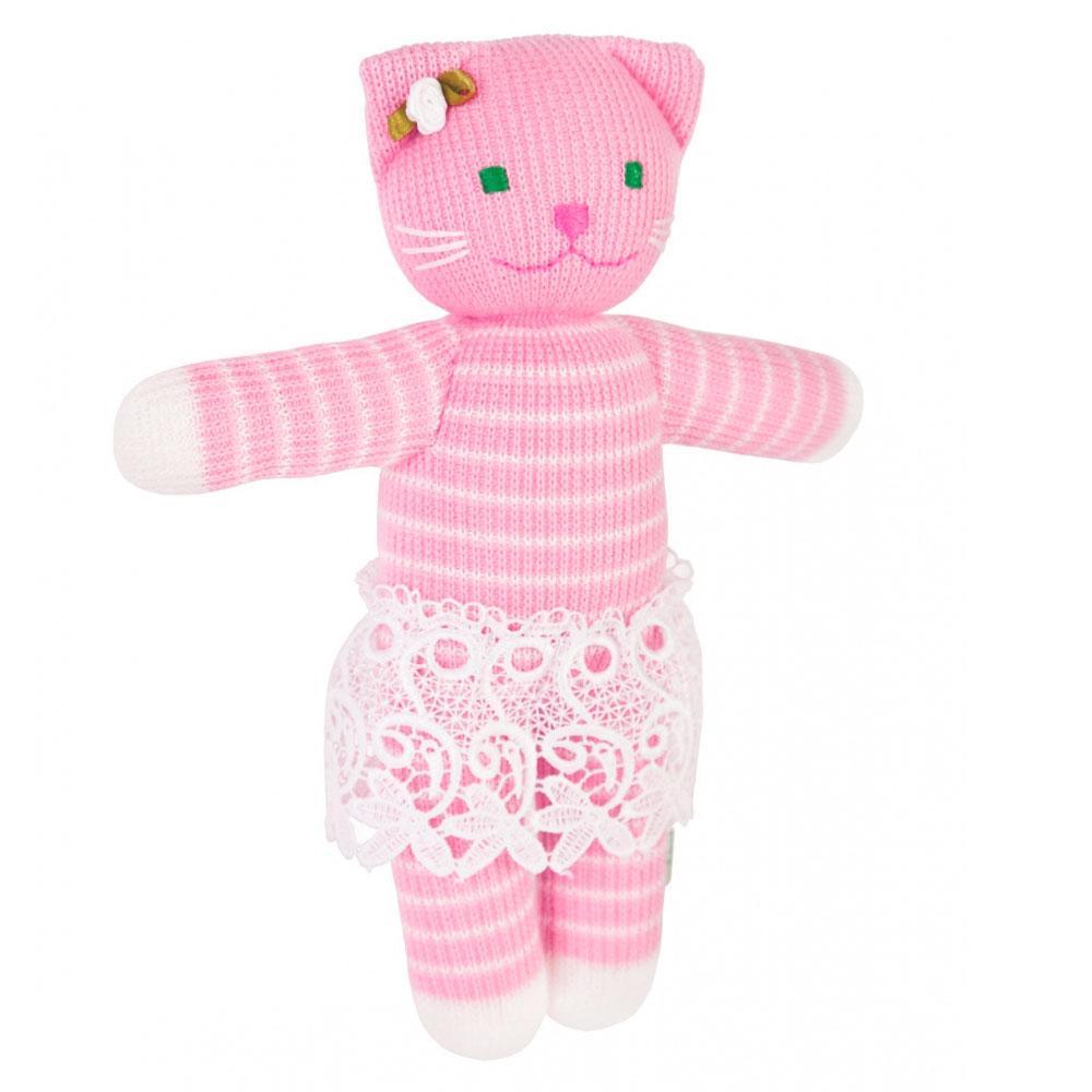 кошка алиса вязаная игрушка натуральные игрушки тм фрея цена 195