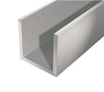 Алюминиевый швеллер 25 х 25 х 2 мм 6060 (АД31Т)