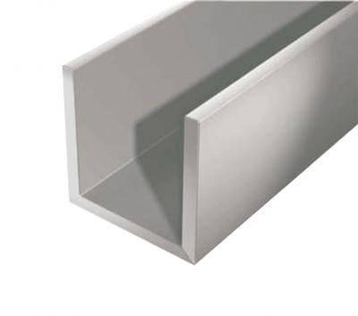 Алюминиевый швеллер 25 х 25 х 2 мм 6060 (АД31Т), фото 2