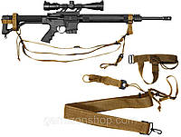 Оружейный ремень Rothco 3-Point Rifle Sling - Coyote