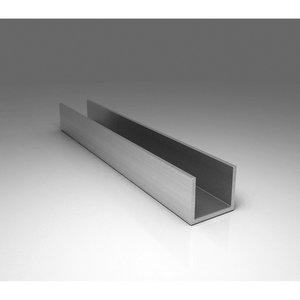 Алюминиевый швеллер 40 х 30 х 3 мм 6060 (АД31Т)