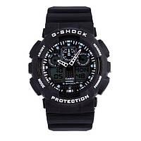 РАСПРОДАЖА! Спортивные часы Casio G-Shock ga-100 (касио джи шок) BLACK-WHITE