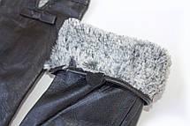 Женские кожаные перчатки Кролик 4-417, фото 2
