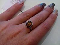 РАСПРОДАЖА!!! Кольцо с янтарем в серебре.