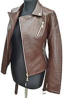 Куртка из кожзама коричневого цвета   № 961