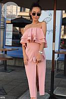 Женское платье с воланом 291 Налет, фото 1