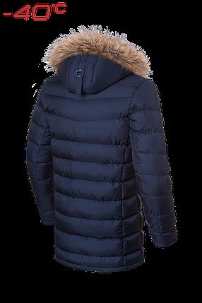 Мужская синяя зимняя куртка с мехом (р. 46-56) арт. 4755, фото 2