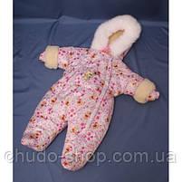 Зимний комбинезон для новорожденных (0-6 месяцев) Винни Пух, фото 2