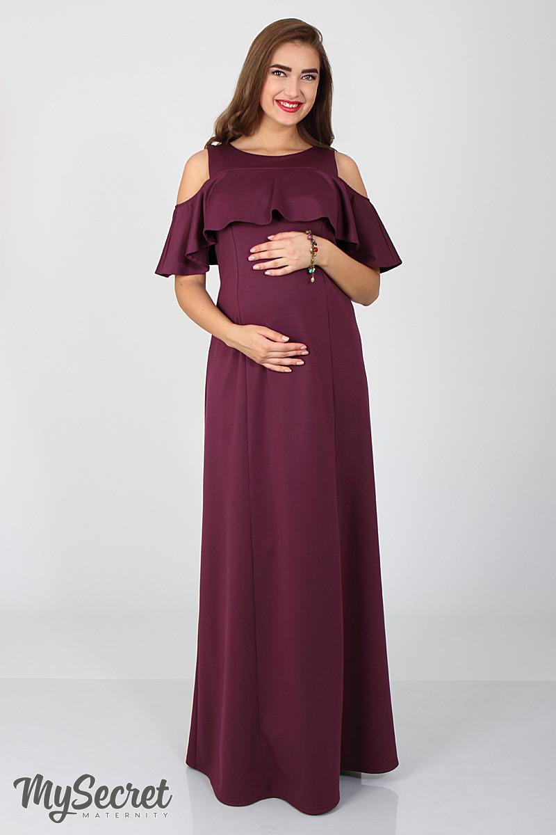 """Платье в пол для беременных и кормления """"Delicate"""", (спелая слива) размер 48"""