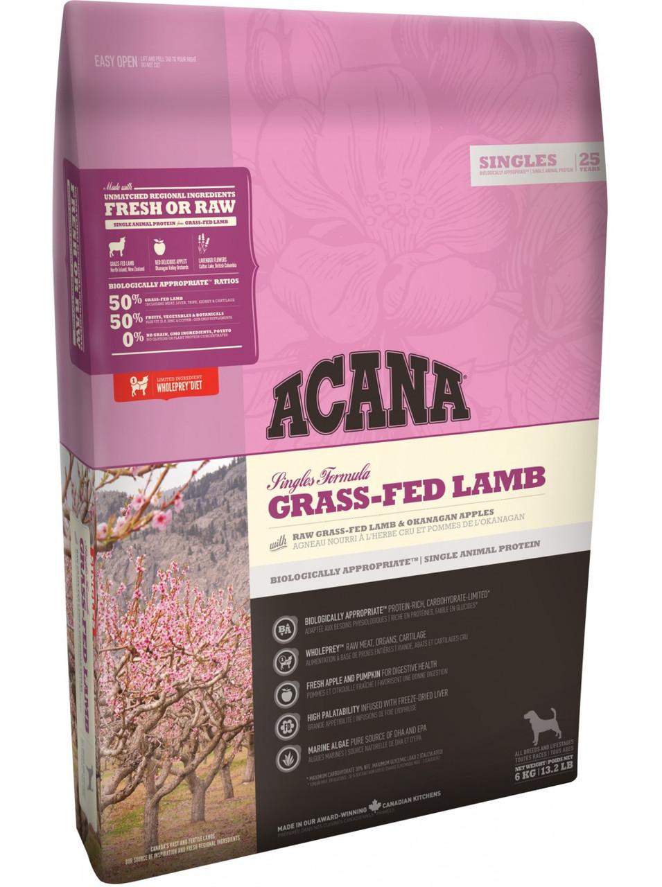 Acana (Акана) Grass-Fed Lamb сухой корм для собак всех пород и возрастов с ягненком, 11.4 кг