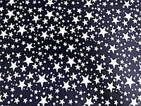 Плащевка Звезды (на т. синем) (арт. 02251) брак