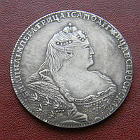 1 рубль 1740 Анна
