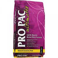 Pro Pac Ultimates Lamb Meal & Brown Rice корм для взрослых собак всех пород с ягнёнком и рисом, 12 кг