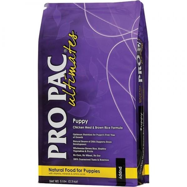Pro Pac Ultimates Puppy Chicken & Brown Rice корм для щенков и кормящих сук с курицей и рисом, 2.5 кг
