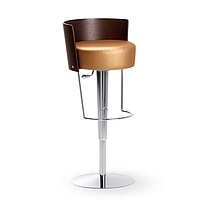 Современный круглый барный стул Bongo LG фабрики MIDJ