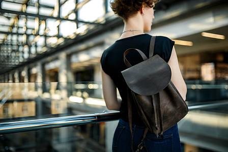 Компактный женский рюкзачок на затяжках |11903| Шоколад