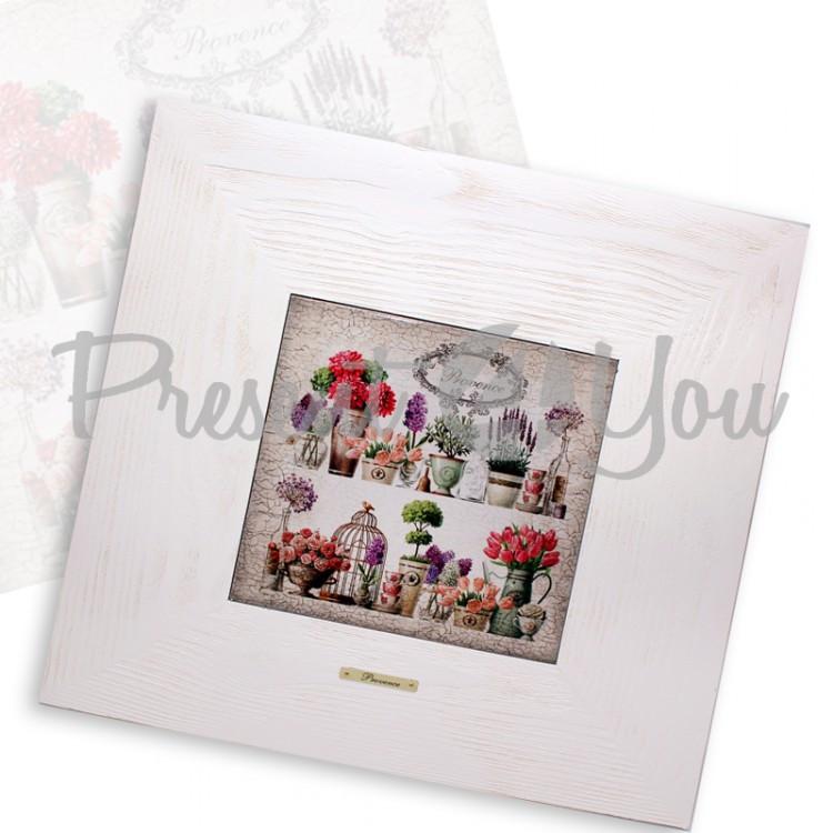 Панно настенное «Прованс. Цветы», 20х20, 40х40 см