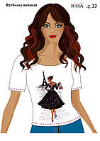 """Женская футболка c рисунком """"Дама в Париже"""""""